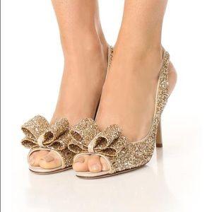 Kate Spade Charm Glitter Heels